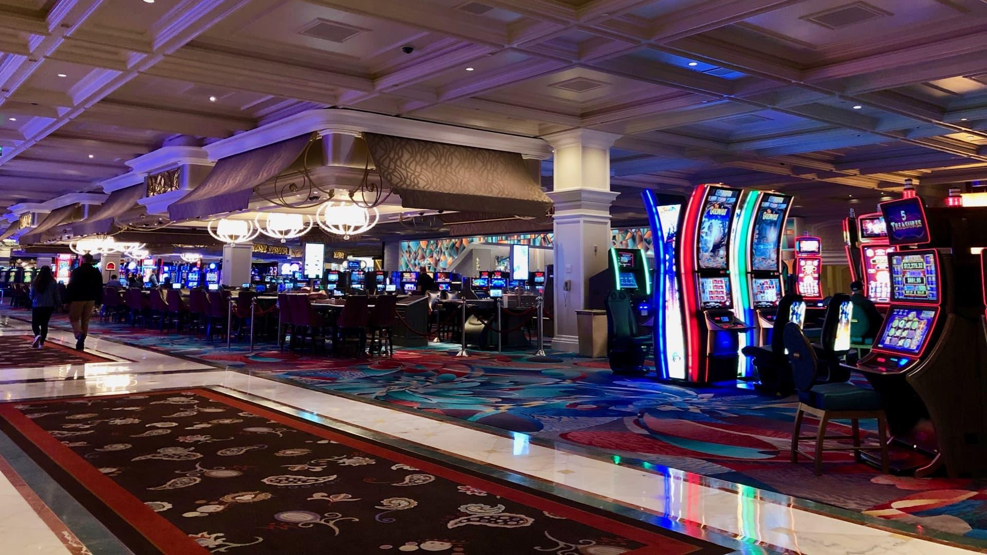 Inside a Las Vegas casino