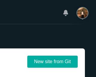 Botão de criação de site usando o GitHub