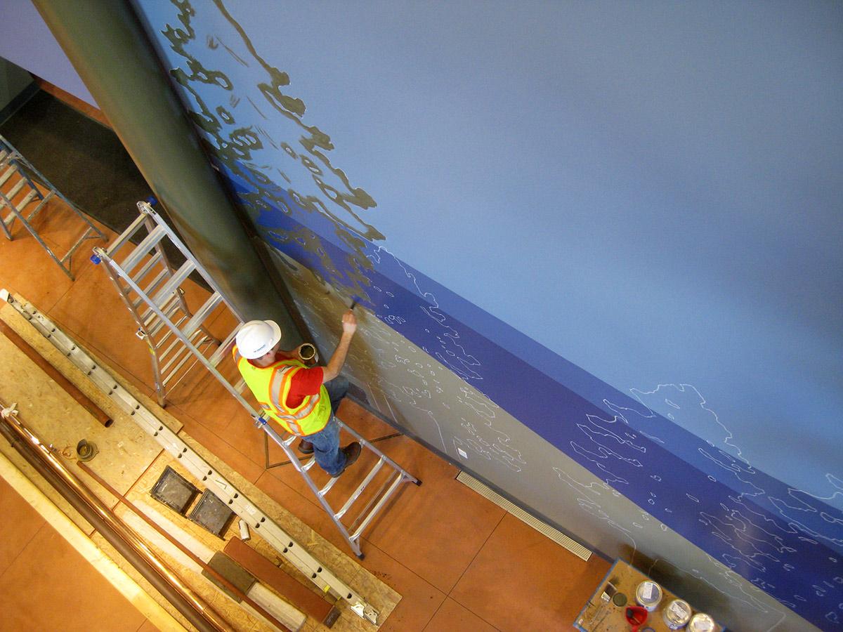 Pikes Peak Hill Climb Experience Museum mural painting