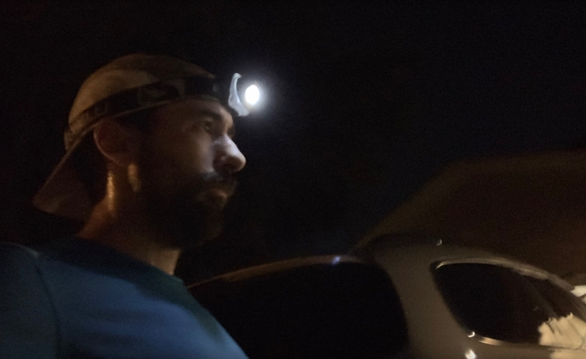 Headlamp for night running
