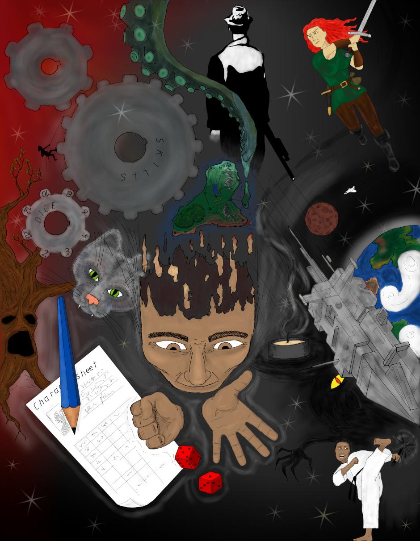 Titelbild zum Artikel 'Vom Regelfuchs zum Erzählbär: Ein Entwicklungsprozess' mit verschiedenen Spielelementen