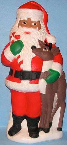 Santa With Reindeer photo