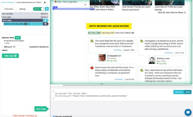 web scraping machine learning