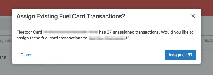 fuel card unassigned transactions