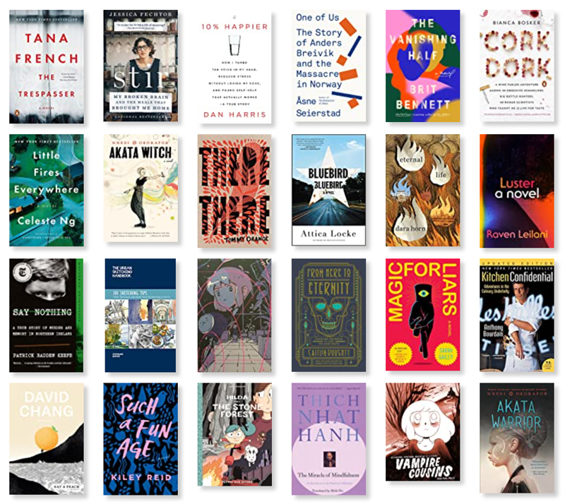 Collage of a bunch of book covers listed at a link in the post.