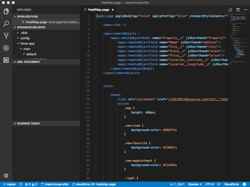 .page ファイルの構文の色分けされた強調表示