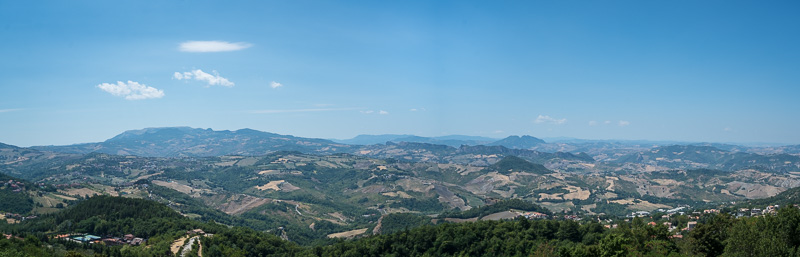 View from the central city of San Marino