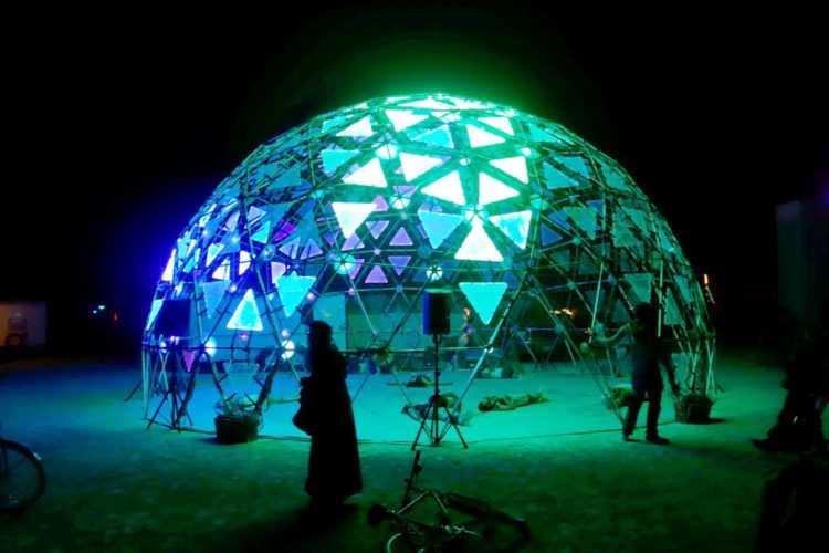 Burning Man Glowing Dome