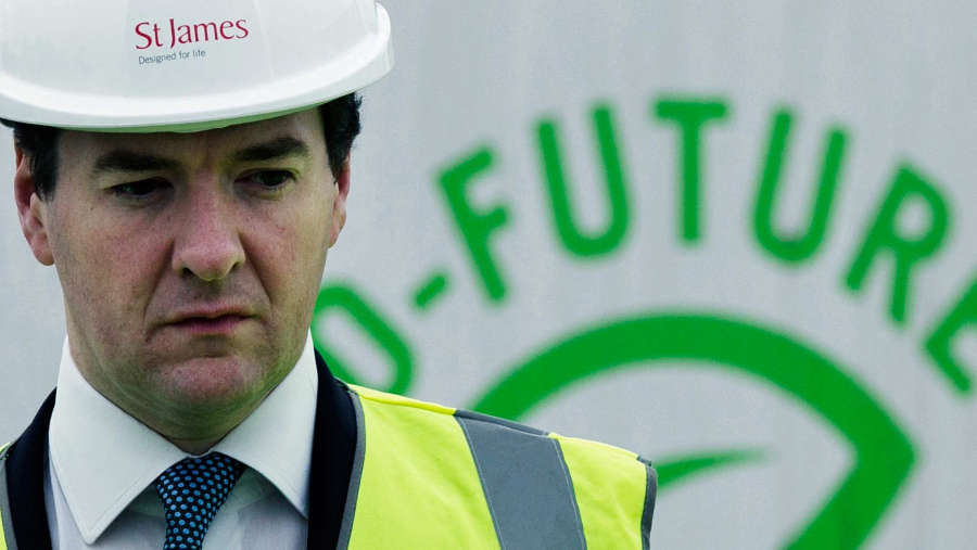 George Osborne in a hard hat