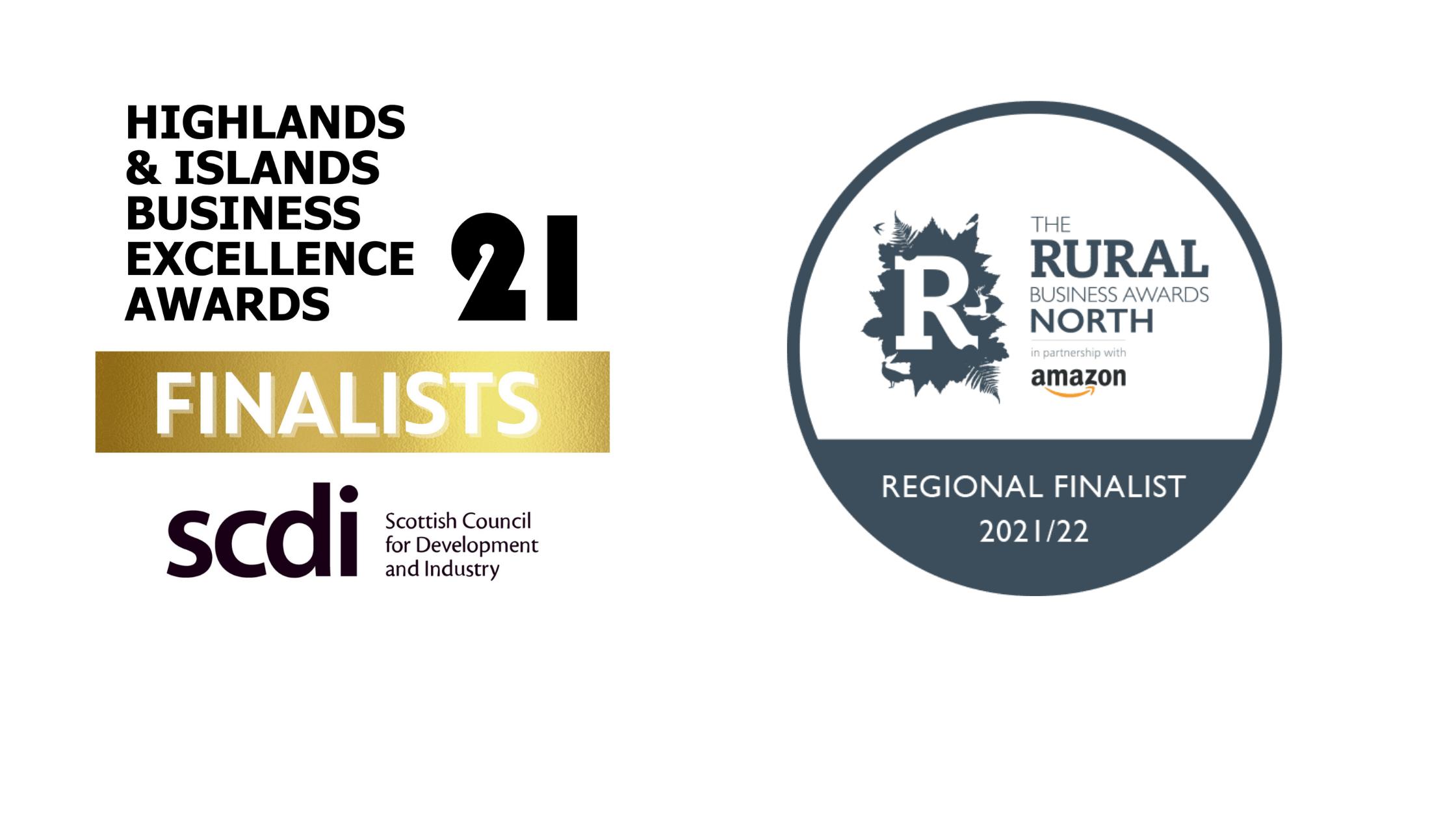 Our finalist badges