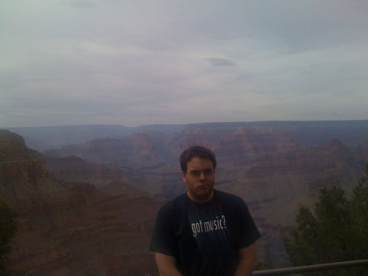 Adam at the Grand Canyon