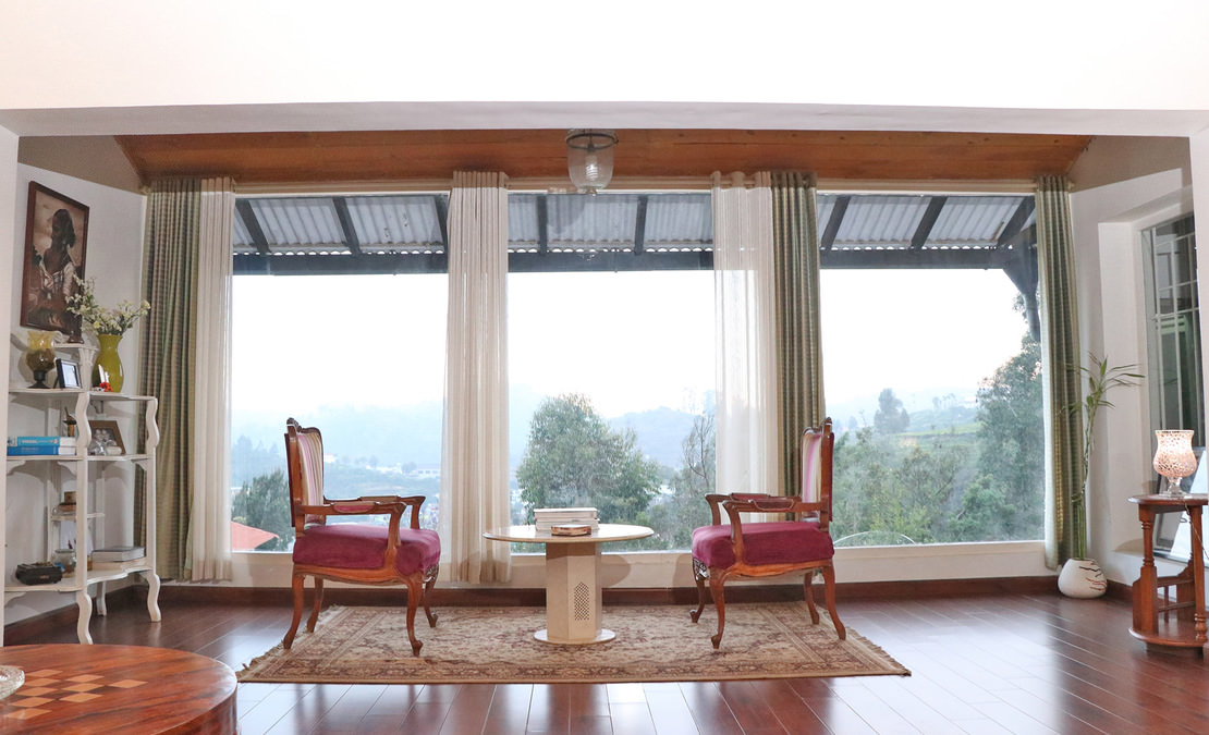 Another view of the Sun room from the living area