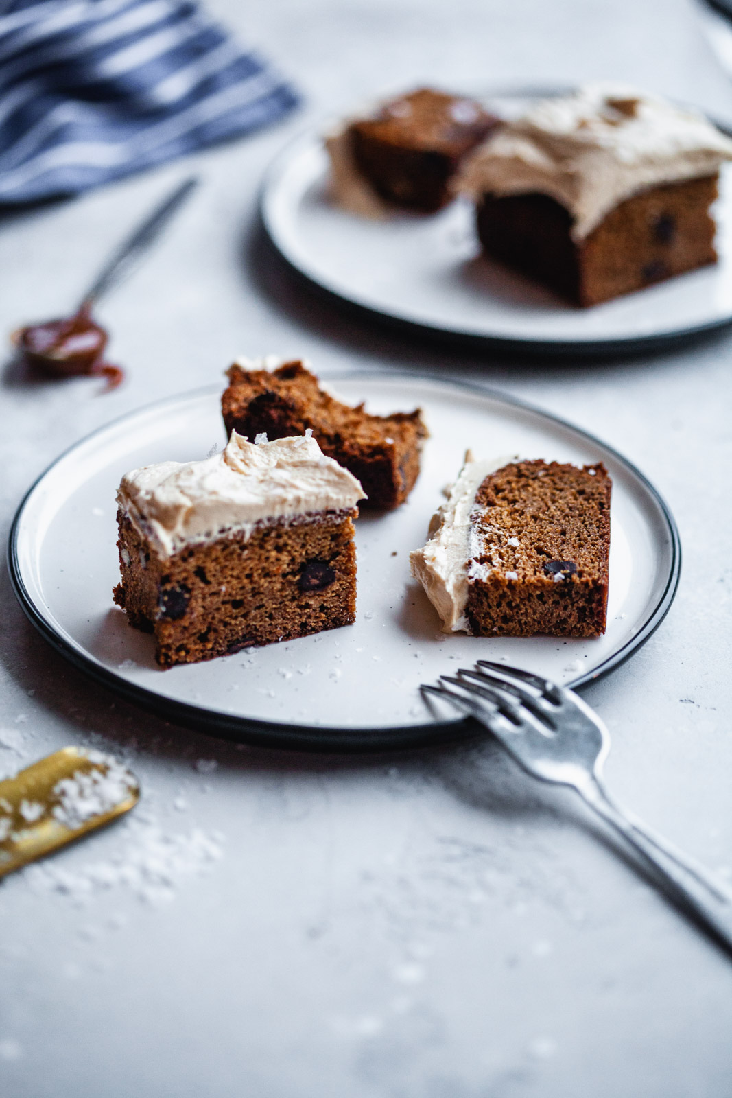 Sweet Potato Spice Cake With A Caramel Frosting