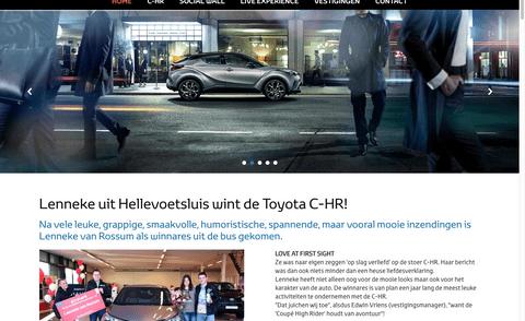 De dappere poging van de Toyota Louwman Live store