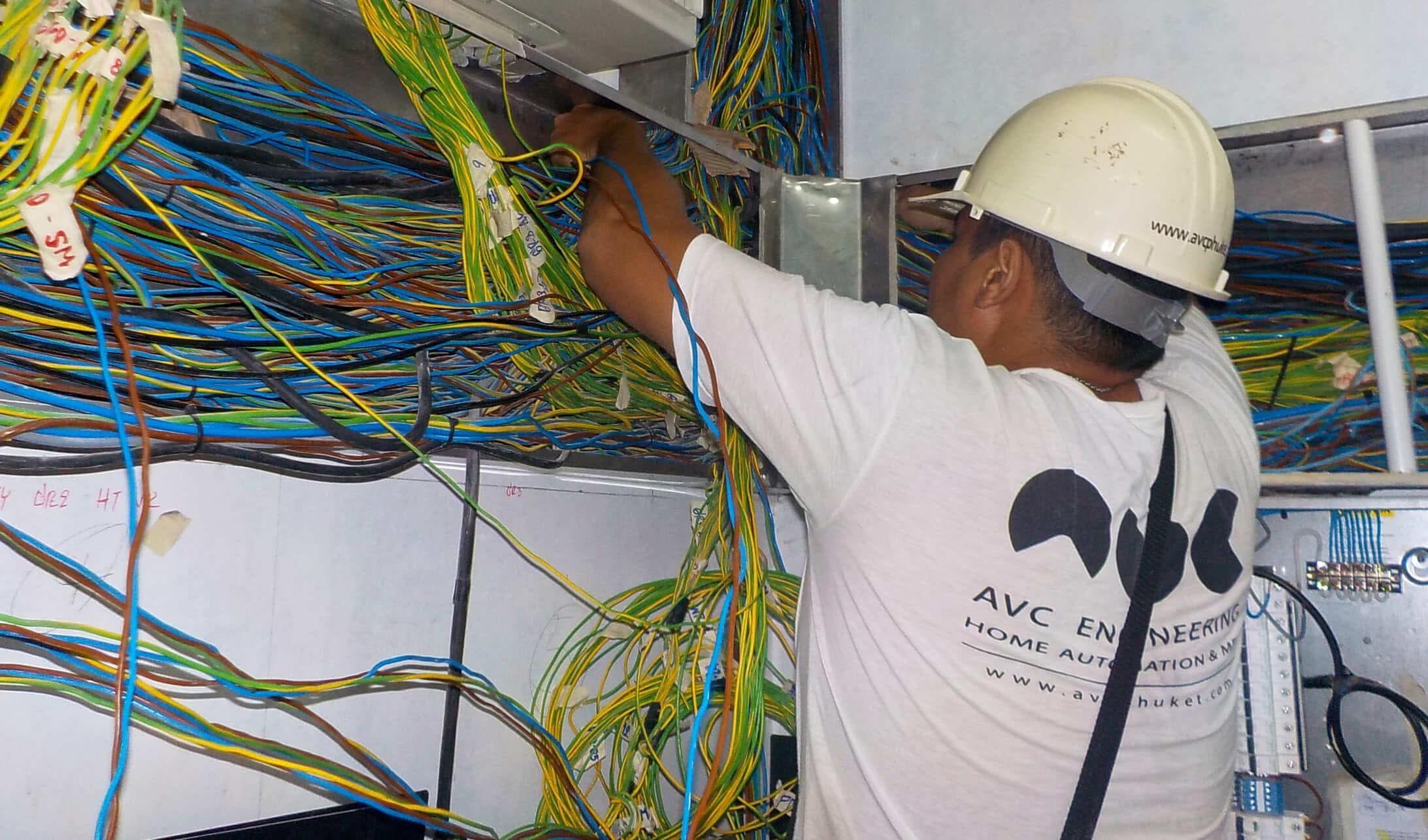 The AVC team installing