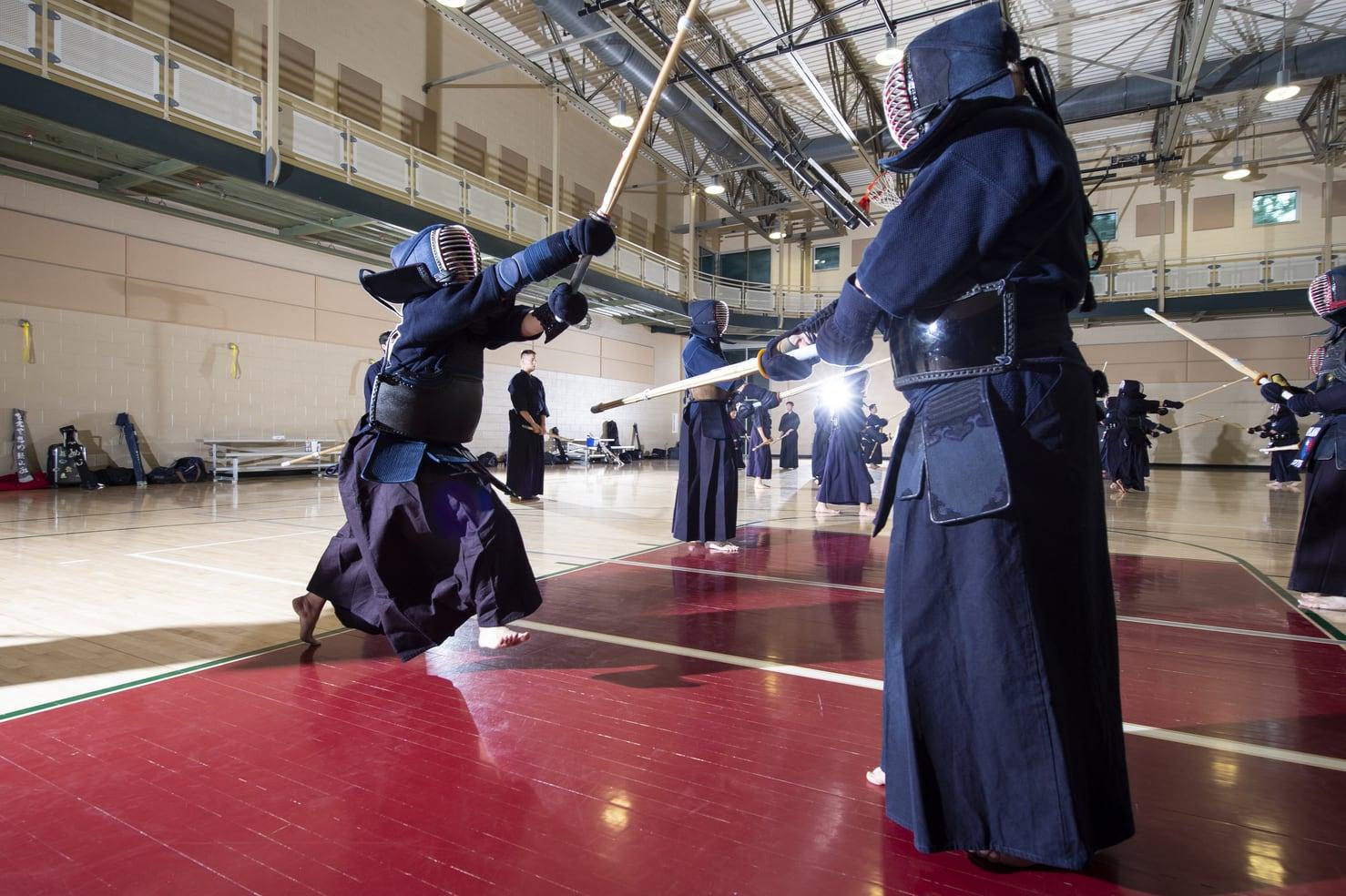 Apinya Premprajak practicing Kendo