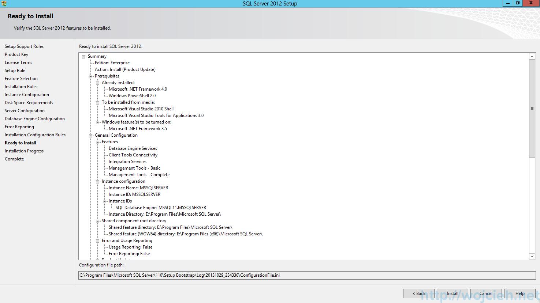 SQL Server 2012 SP1 - Ready To Install
