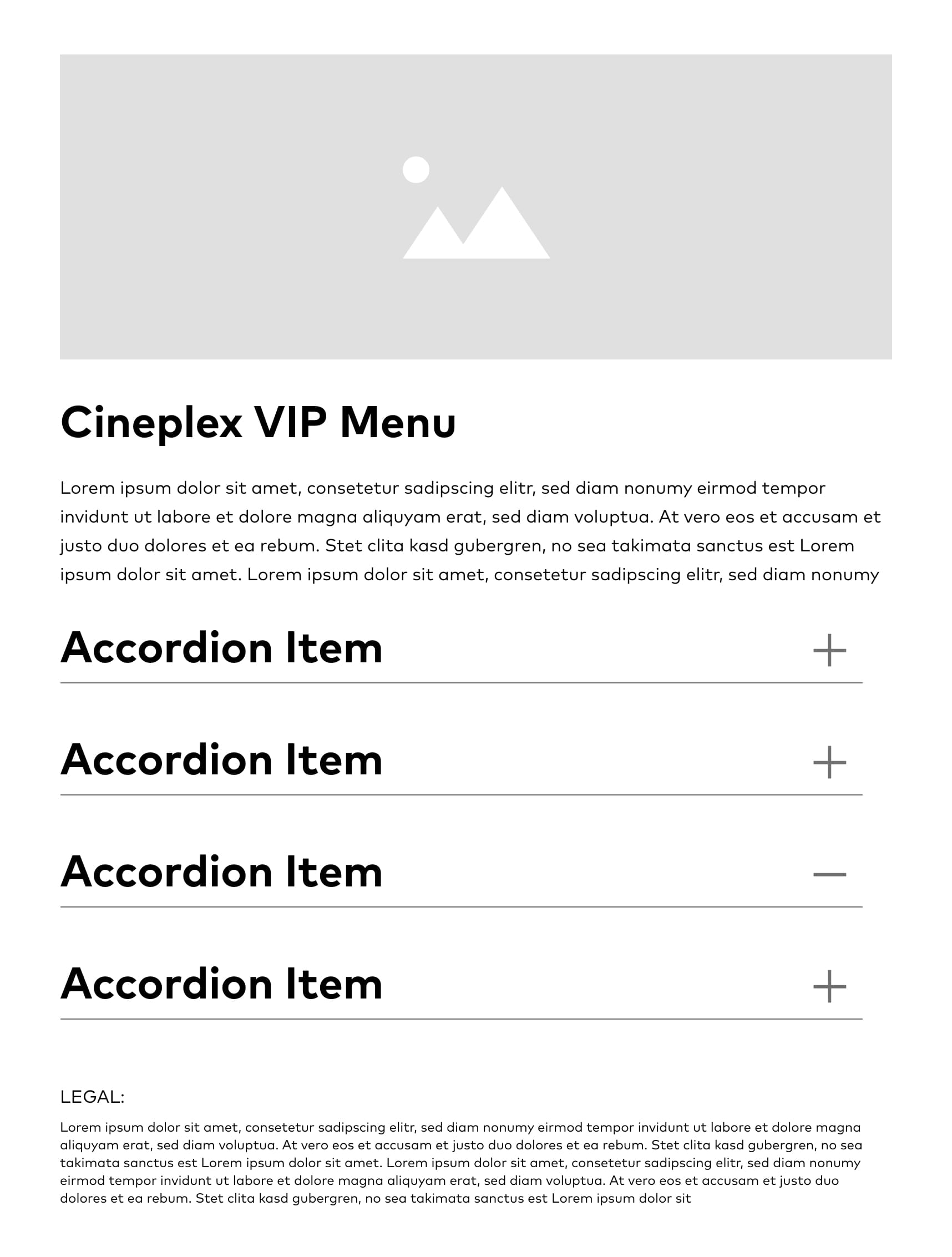 Revamped accordion layout