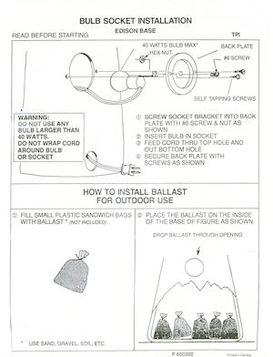 TPI Plastics Bulb Socket Installation Edison Base Instruction Manual.pdf preview