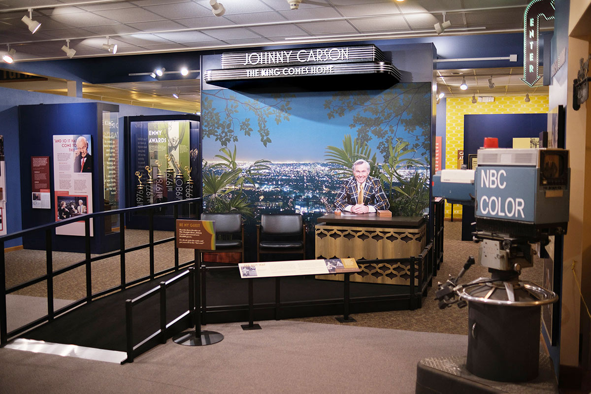 Johnny Carson museum exhibit entrance