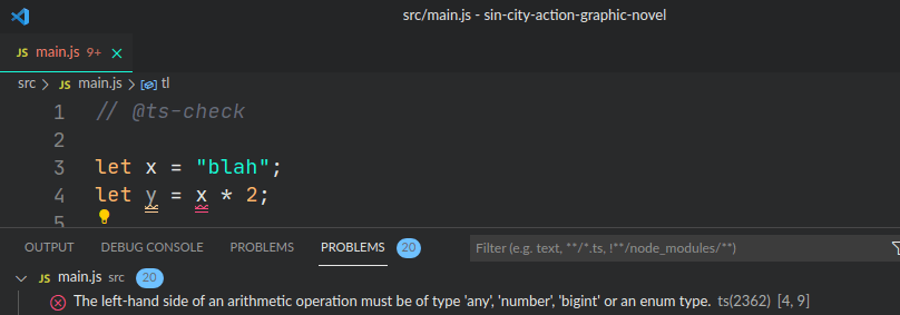 demo of type error for string being multipled by 2