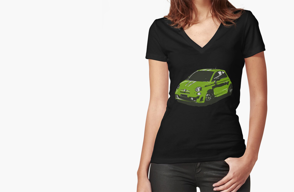 Women Fitted V-Neck T-Shirts by thespeedart