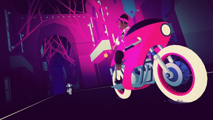 Sayonara Wild Hearts screenshot.
