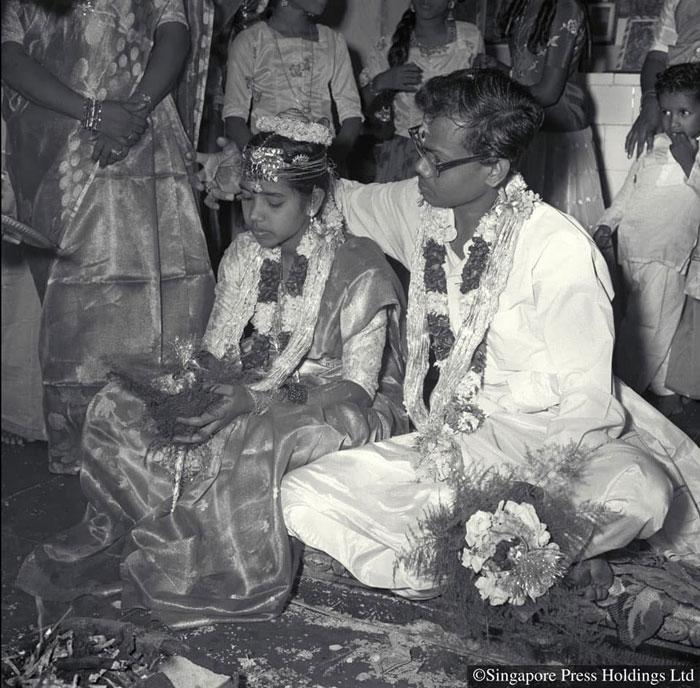 兴都庙里举办的印度婚礼,1961年