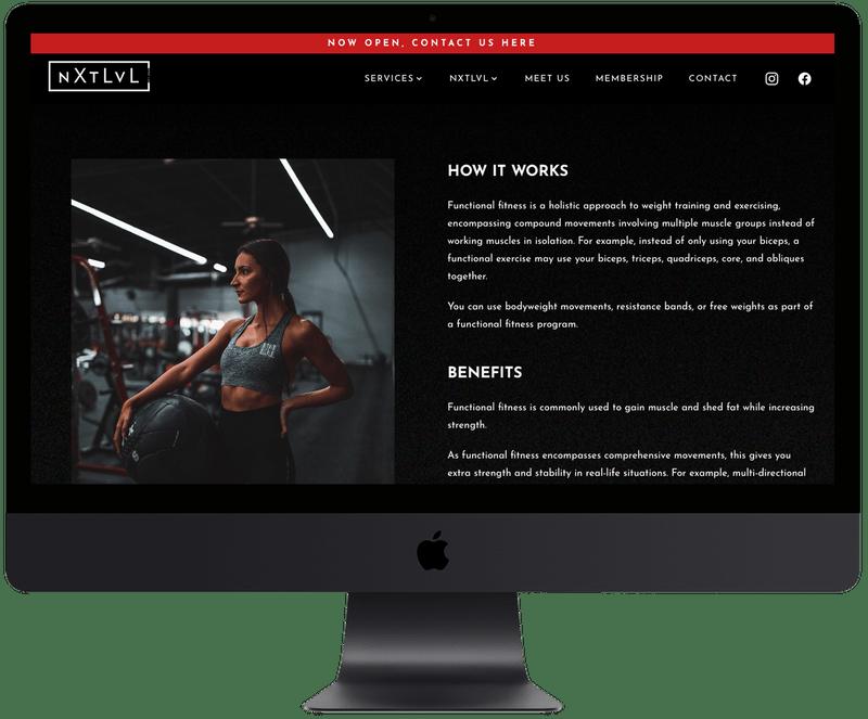 PC website mockup
