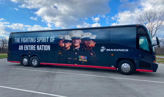 Bus Wrap Marines