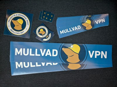 Mullvad swag you can get