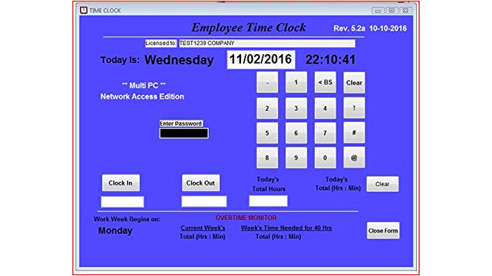 Network Time Clock Software