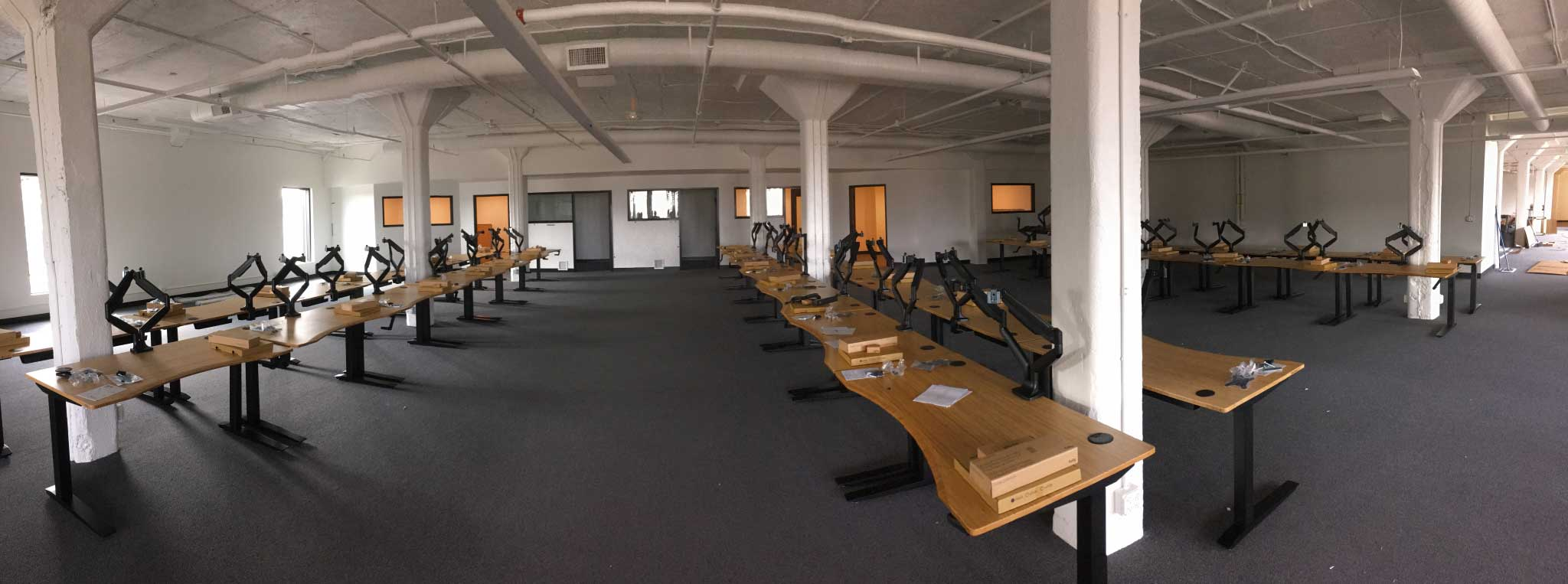 Panoramic of our new office