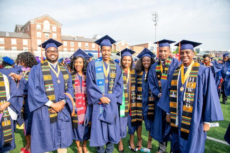 Howard students at graduation