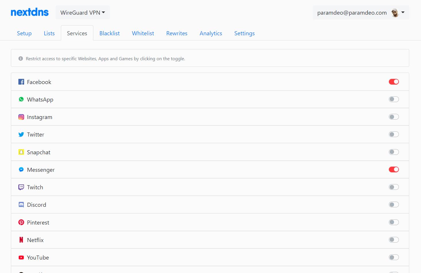 Setup an Adblocking VPN using WireGuard and nextdns