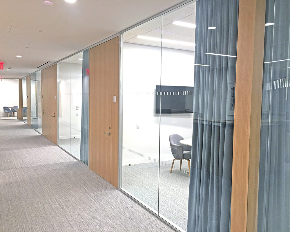Another Stratus Hallway with Wooden Doors and Glass Walls
