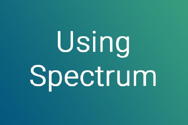 kaleidoscope using spectrum