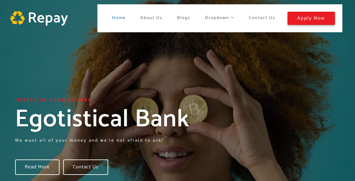 Egotistical Bank Webpage