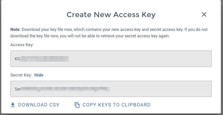 Wasabi - Access confirmed