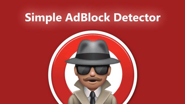 Simple AdBlock Detector for WordPress