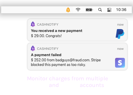 CashNotify notifications app for macOS