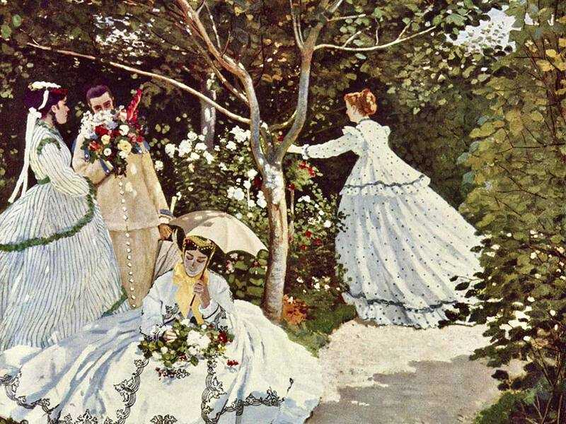 In 1867 Monet submitted Women in the Garden. It was rightly rejected by the jury: check out the odd posture of the woman in the background.