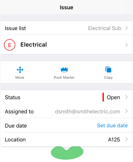 Resolve issues with the punch list app
