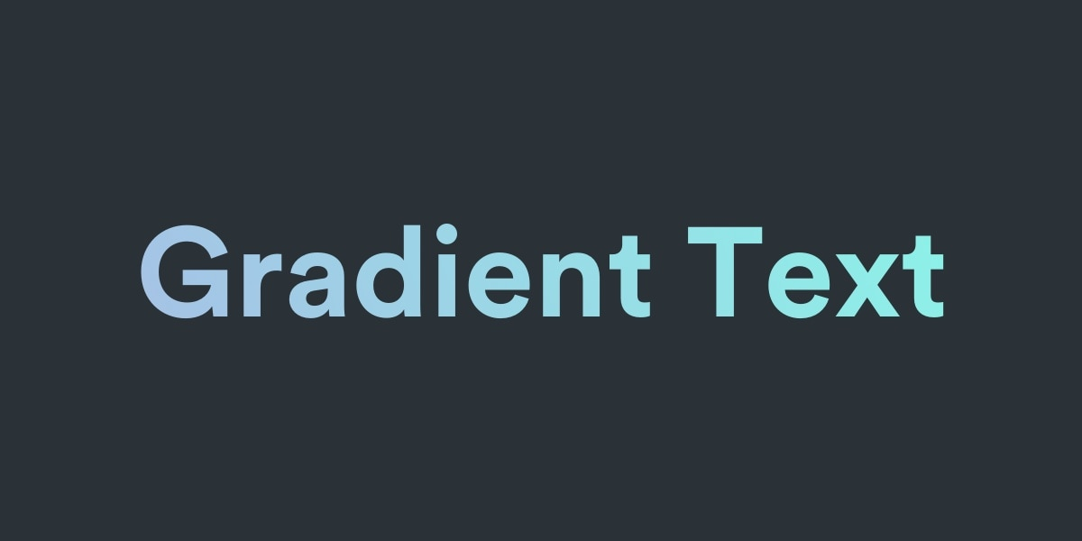 Accessible text gradients using CSS