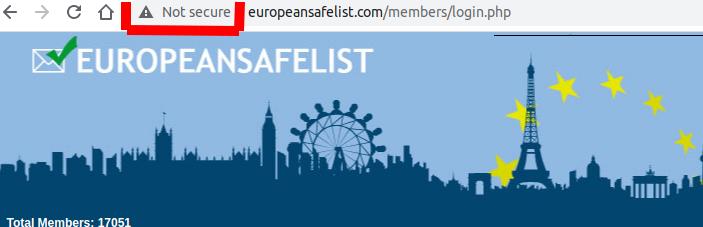 European Safelist Not Secure