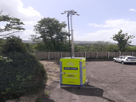 Mobile CCTV Towers – Secluded Site in Welshpool