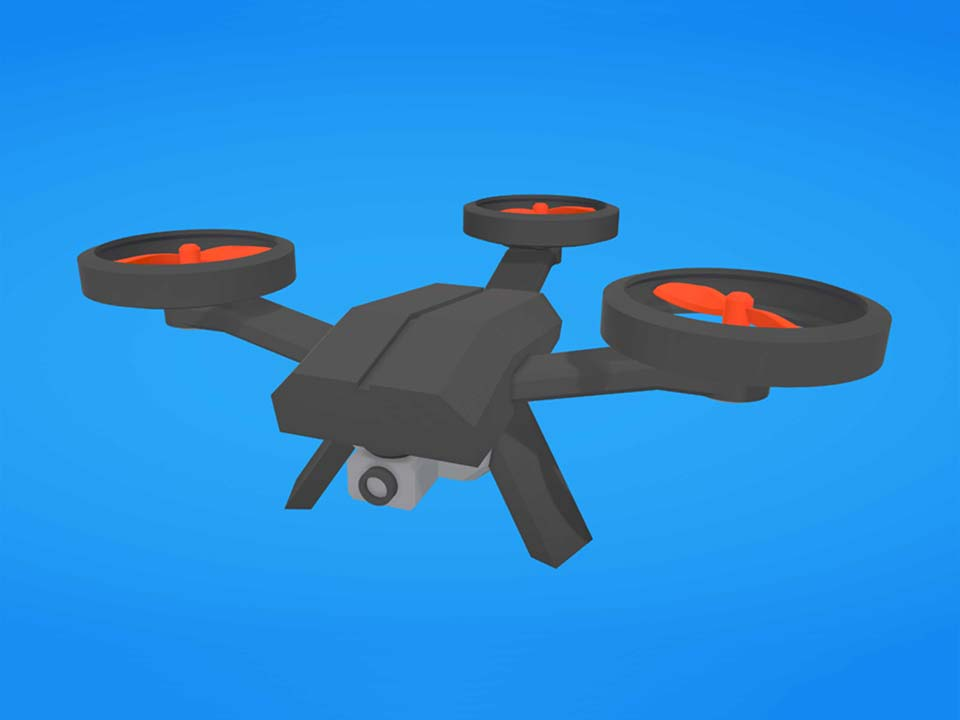 A drone with just three propellors