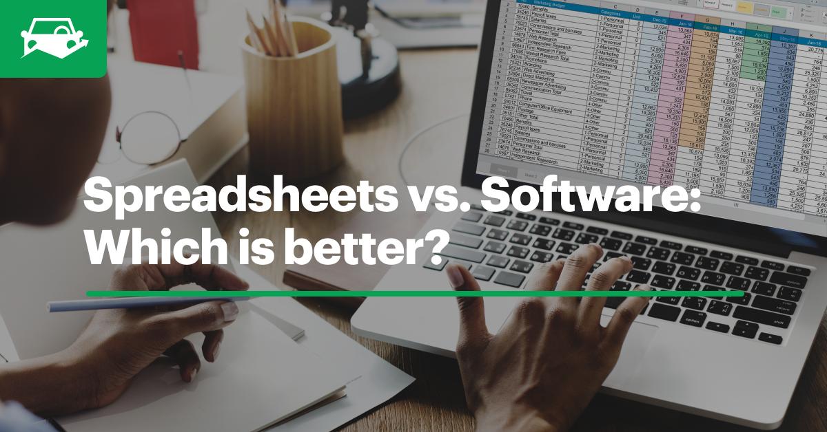 Spreadsheet vs software blog visual