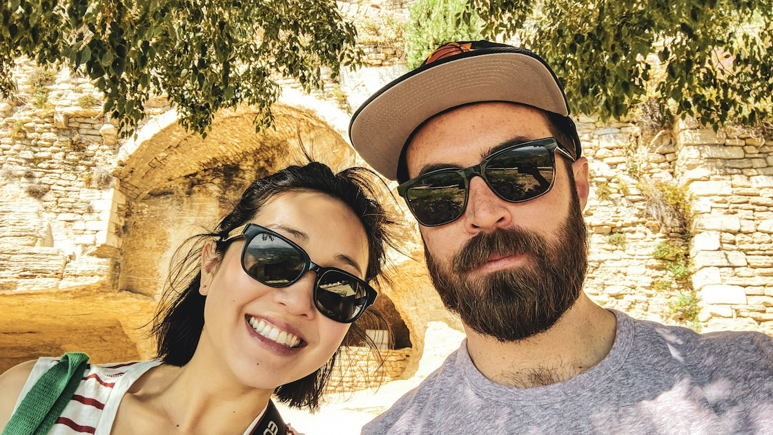 Photo of Jason and wife on vacation