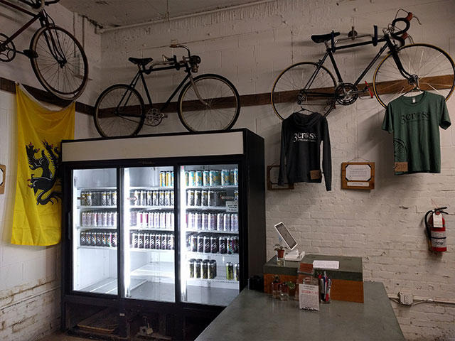 The inside of the 3cross coop is adorned with bikes
